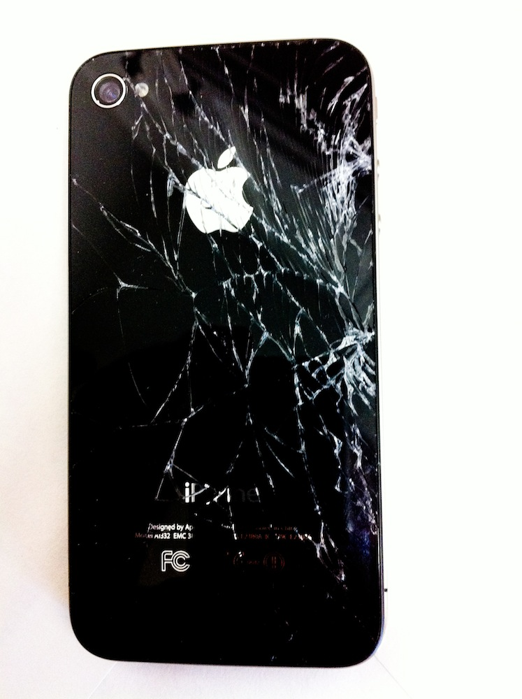 Iphone 4 cracked screen covered applecare
